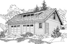 Craftsman Exterior - Front Elevation Plan #124-800