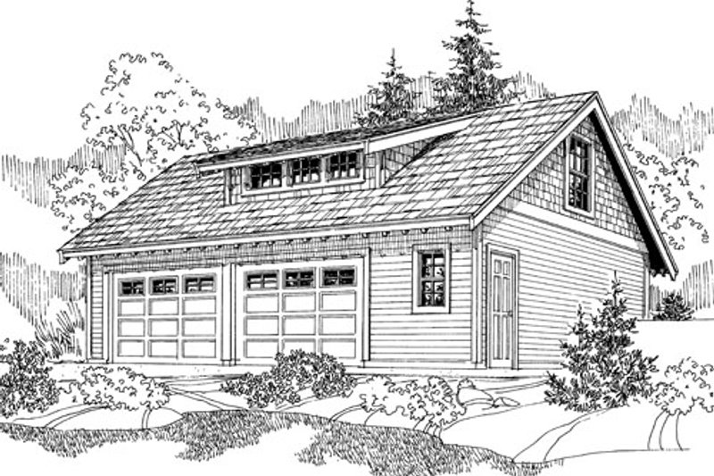 Craftsman Exterior - Front Elevation Plan #124-800 - Houseplans.com