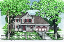 Dream House Plan - Traditional Exterior - Front Elevation Plan #20-504