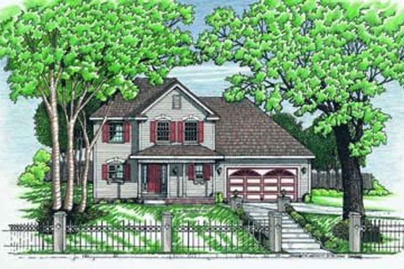 Traditional Exterior - Front Elevation Plan #20-504