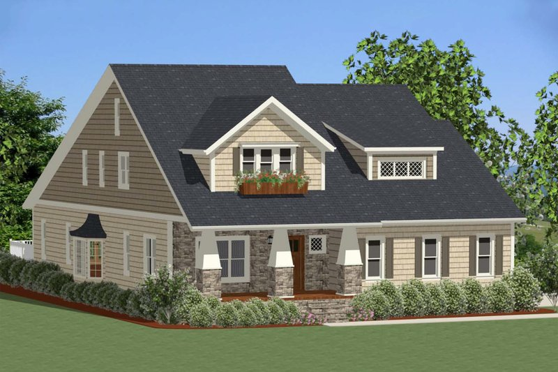Craftsman Exterior - Front Elevation Plan #898-23
