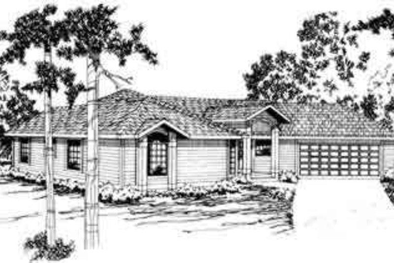 Dream House Plan - Exterior - Front Elevation Plan #124-163