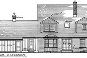 Colonial Style House Plan - 4 Beds 2.5 Baths 2320 Sq/Ft Plan #315-108 Exterior - Rear Elevation