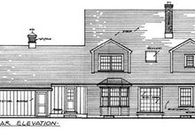 Colonial Exterior - Rear Elevation Plan #315-108
