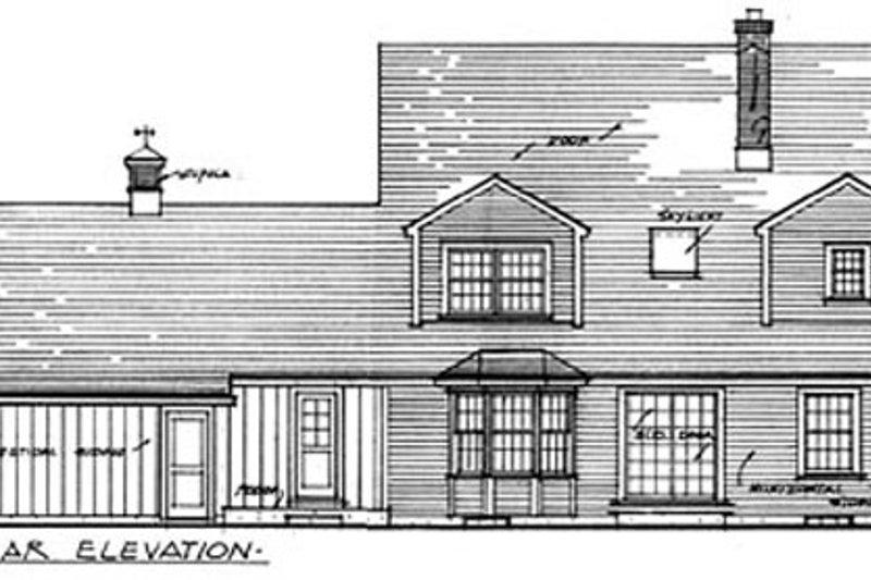 Colonial Exterior - Rear Elevation Plan #315-108 - Houseplans.com