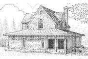 Farmhouse Style House Plan - 3 Beds 2 Baths 1442 Sq/Ft Plan #410-123 Exterior - Rear Elevation