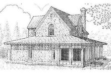 House Design - Farmhouse Exterior - Rear Elevation Plan #410-123