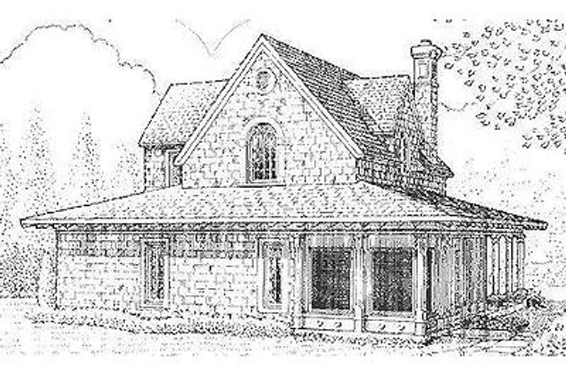 Farmhouse Exterior - Rear Elevation Plan #410-123 - Houseplans.com