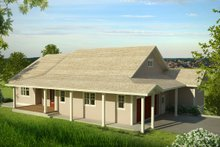 House Plan Design - Country Exterior - Front Elevation Plan #124-1013