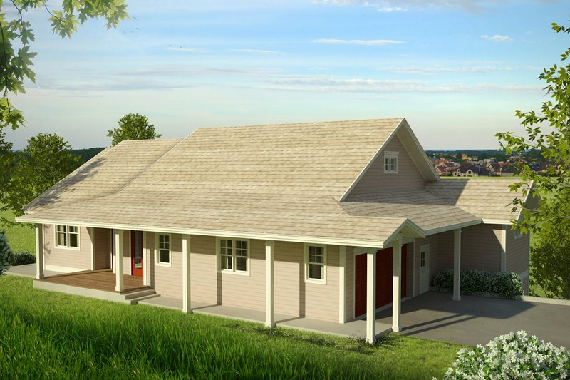 Dream House Plan - Country Exterior - Front Elevation Plan #124-1013