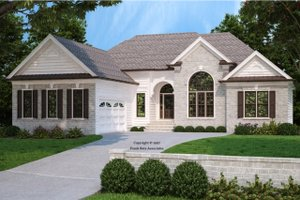 Country Exterior - Front Elevation Plan #927-185