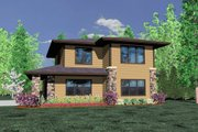 Prairie Style House Plan - 0 Beds 1 Baths 2051 Sq/Ft Plan #509-3 Exterior - Front Elevation