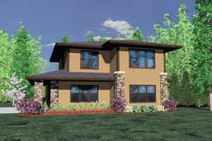 Prairie Exterior - Front Elevation Plan #509-3