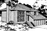 Traditional Style House Plan - 3 Beds 2 Baths 940 Sq/Ft Plan #87-302 Exterior - Front Elevation