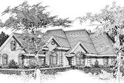 European Style House Plan - 4 Beds 2.5 Baths 2793 Sq/Ft Plan #329-270 Exterior - Front Elevation