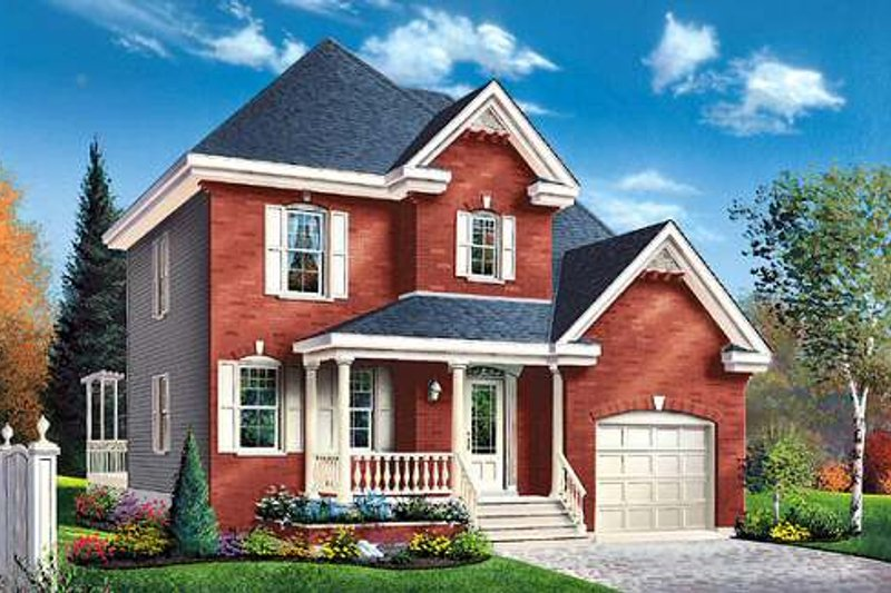 European Exterior - Front Elevation Plan #23-355 - Houseplans.com