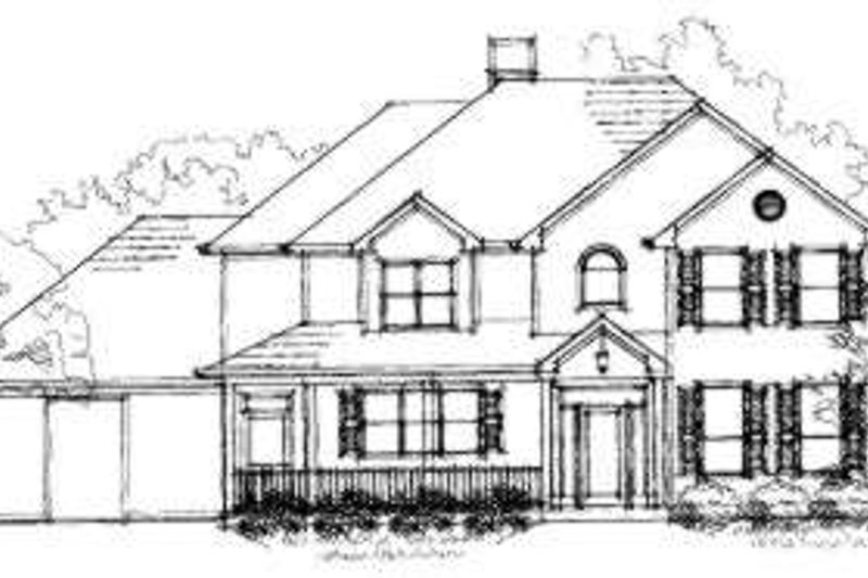 Traditional Exterior - Front Elevation Plan #325-145 - Houseplans.com