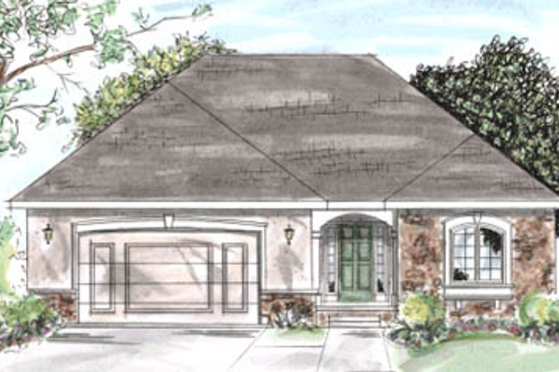 Traditional Exterior - Front Elevation Plan #20-1255 - Houseplans.com