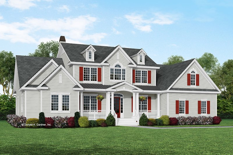 Country Exterior - Front Elevation Plan #929-831