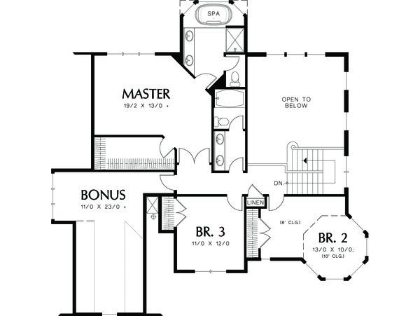 Architectural House Design - Victorian Floor Plan - Lower Floor Plan #48-108