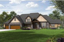 Dream House Plan - Craftsman Exterior - Front Elevation Plan #48-649