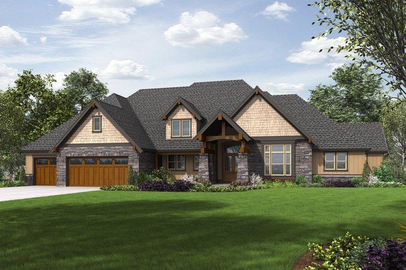 Craftsman Exterior - Front Elevation Plan #48-649