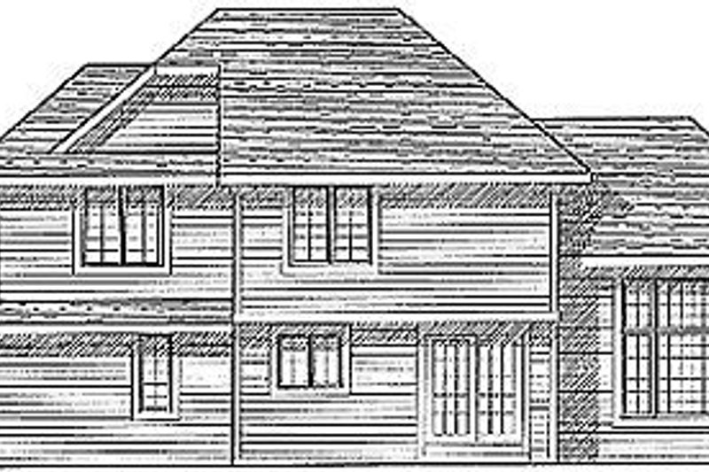 Traditional Exterior - Rear Elevation Plan #70-187 - Houseplans.com