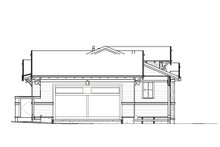 Craftsman Exterior - Rear Elevation Plan #895-106