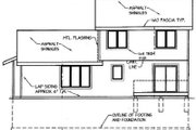 Traditional Style House Plan - 4 Beds 2.5 Baths 1701 Sq/Ft Plan #50-107 Exterior - Rear Elevation
