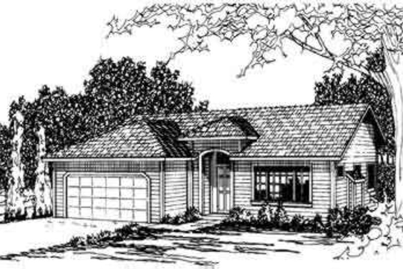 Ranch Exterior - Front Elevation Plan #124-182