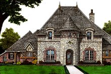 Home Plan - European Exterior - Front Elevation Plan #310-651