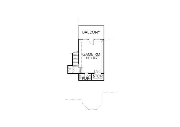 European Floor Plan - Upper Floor Plan Plan #80-192