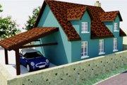 Tudor Style House Plan - 2 Beds 1 Baths 566 Sq/Ft Plan #542-7 Exterior - Rear Elevation
