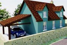 Home Plan - Tudor Exterior - Rear Elevation Plan #542-7
