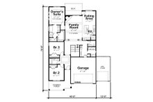 Ranch Floor Plan - Main Floor Plan Plan #20-2299