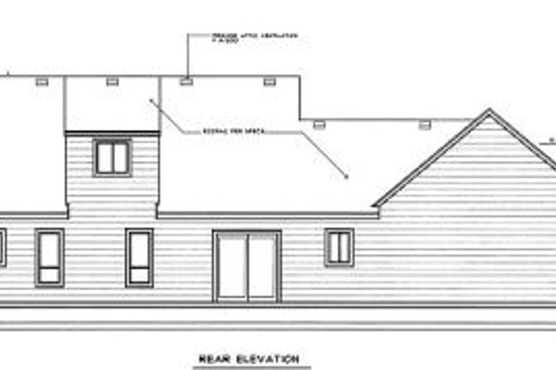 Colonial Exterior - Rear Elevation Plan #98-207 - Houseplans.com