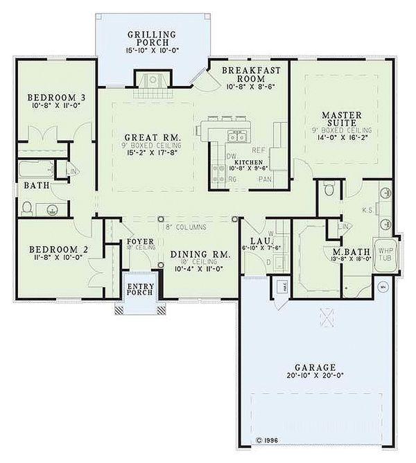 Traditional Floor Plan - Main Floor Plan #17-1145