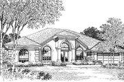 Mediterranean Style House Plan - 4 Beds 3 Baths 2221 Sq/Ft Plan #417-213