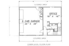 Traditional Floor Plan - Lower Floor Plan Plan #117-535