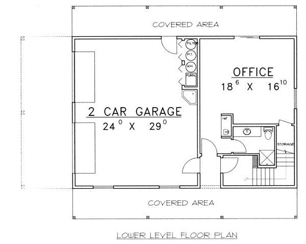 Home Plan - Traditional Floor Plan - Lower Floor Plan #117-535