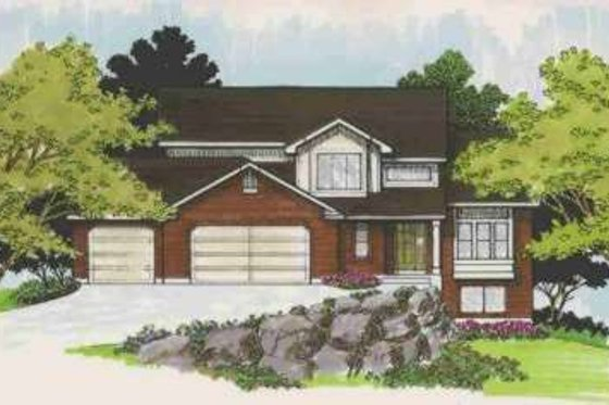 Traditional Exterior - Front Elevation Plan #308-117