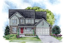 Traditional Exterior - Front Elevation Plan #20-2090