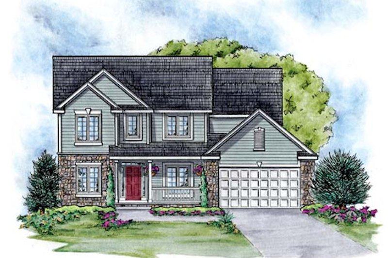 Traditional Exterior - Front Elevation Plan #20-2090 - Houseplans.com