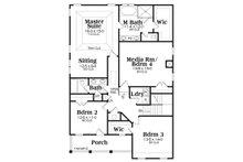 Southern Floor Plan - Upper Floor Plan Plan #419-315