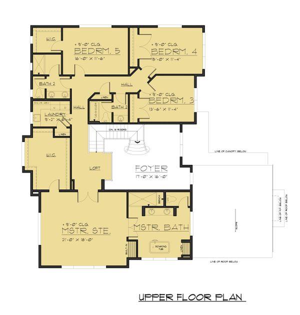 Modern Floor Plan - Upper Floor Plan #1066-87