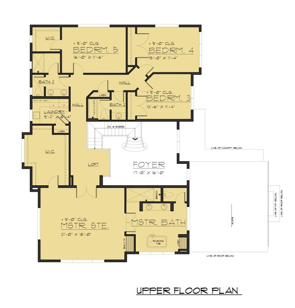Dream House Plan - Modern Floor Plan - Upper Floor Plan #1066-87