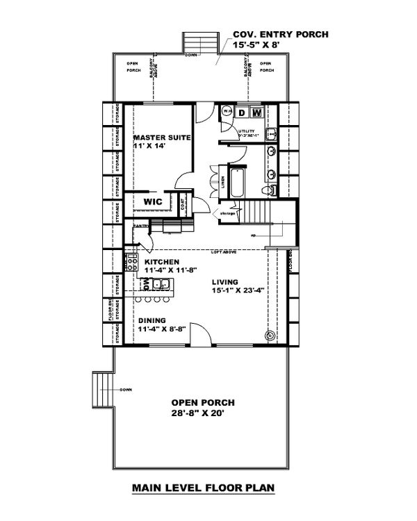 Contemporary Floor Plan - Main Floor Plan #117-914