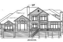 Home Plan Design - Traditional Exterior - Rear Elevation Plan #97-211
