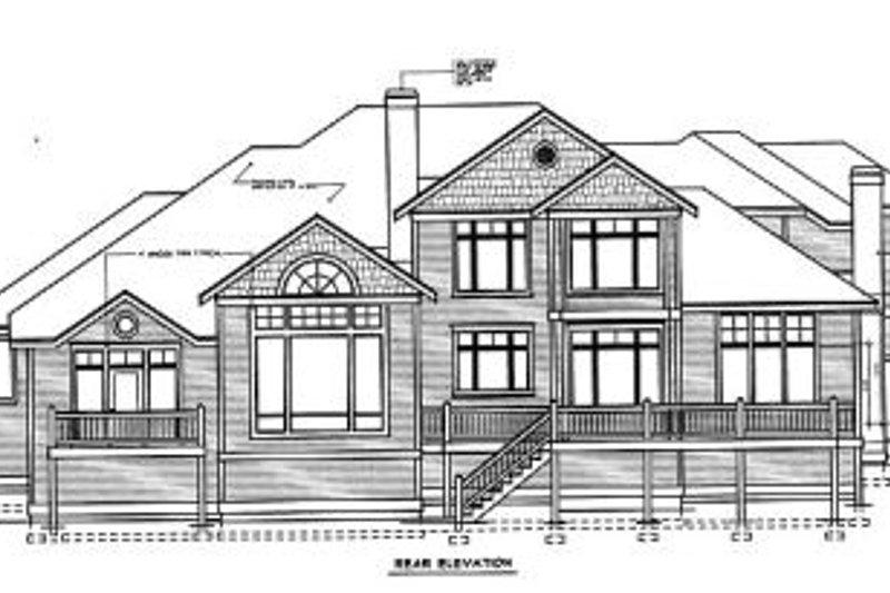 Traditional Exterior - Rear Elevation Plan #97-211 - Houseplans.com