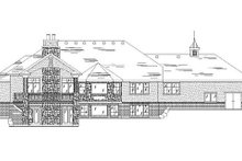 European Exterior - Rear Elevation Plan #5-251